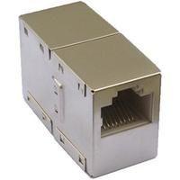 Spojka 2 x RJ45 plast STP Cat.5e (silver) -