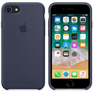 APPLE Silikónové púzdro pre iPhone 8/7 Mid Blu