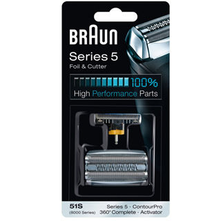 BRAUN CombiPack Series 5 - 51S brit + fólia silver