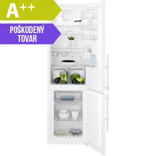 ELECTROLUX Kombinovaná chladnička EN3853MOW biela