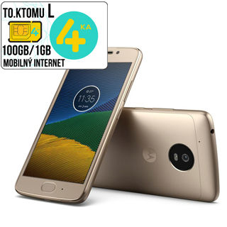"LENOVO Moto G (5.Gen) 3GB/16GB 5"" DUAL Sim Gld"