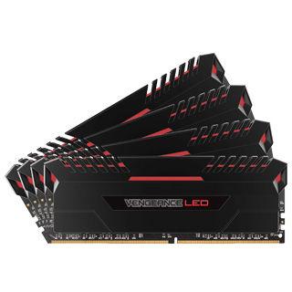 CORSAIR Vengeance LED RED 16GB (4x4GB)/DDR4/3400
