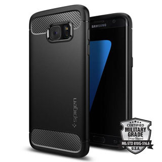 SPIGEN Rugged Armor for Galaxy S7 edge - Black
