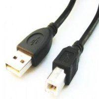 USB prepojovací kábel Gembird USB 2.0 kábel A-B 1,8m čierny - CCP-USB2-AMBM-6