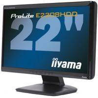 "Monitor LCD 22"" LCD Iiyama E2208HDD - 16:9, DVI-D, D-SUB, 2ms, Full HD 1080p, 10 000 :1,piano black - E2208HDD"