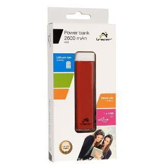 TRACER - Power Bank 2600 mAh cervena