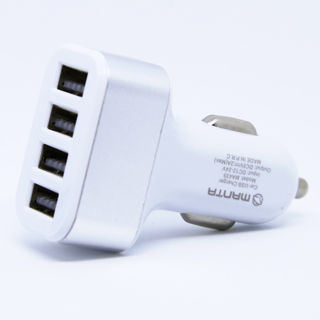 MANTA Autonabíjačka 4x USB 2.0 12V MA435 wht/sil
