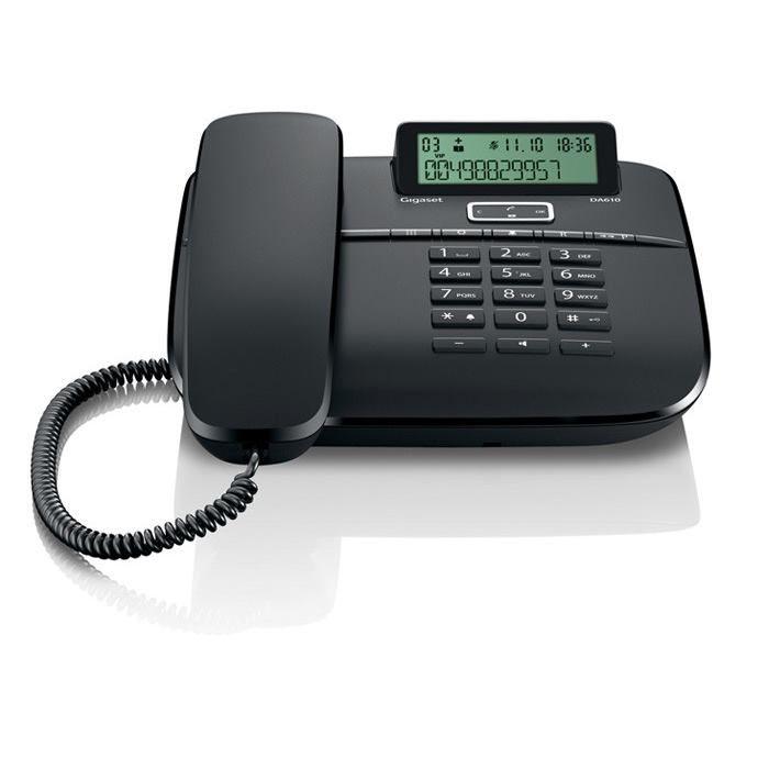 Gigaset DA610 Telefónny prístroj čierny