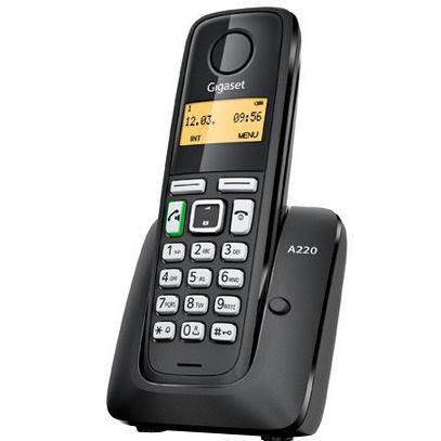 Gigaset A220 Telefónny prístroj čierny