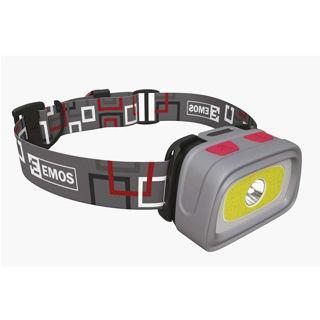 EMOS Čelovka COB + CREE LED + píšťalka P3531