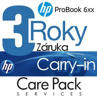 HP Rozšírenie záruky na 3 roky Carry-in ProBook 6x