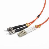 Duplex multimode opticky kabel LC-ST 10m bulk