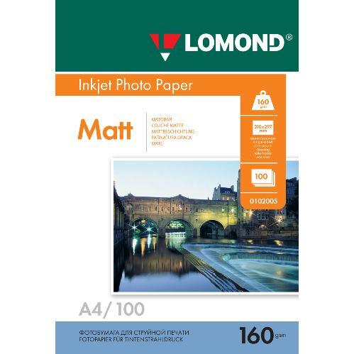 LOM - Pho Inkj Matt 160g/m2  100/A4