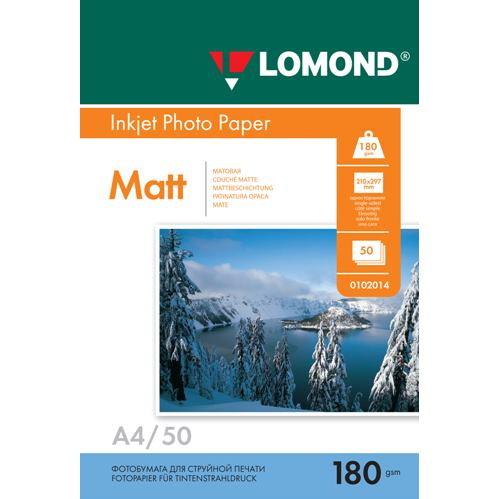 LOM - Pho Inkj Matt 180g/m2  50/A4