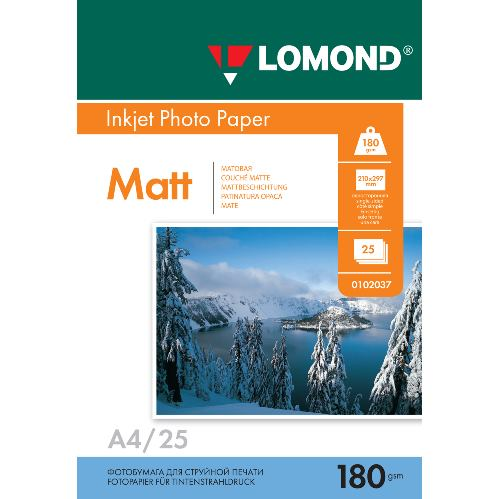 LOM - Pho Inkj Matt 180g/m2  25/A4