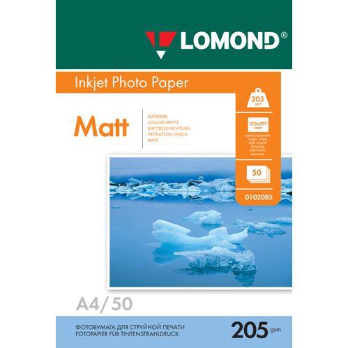 LOM - Pho Inkj Matt 205g/m2  50/A4 0102085