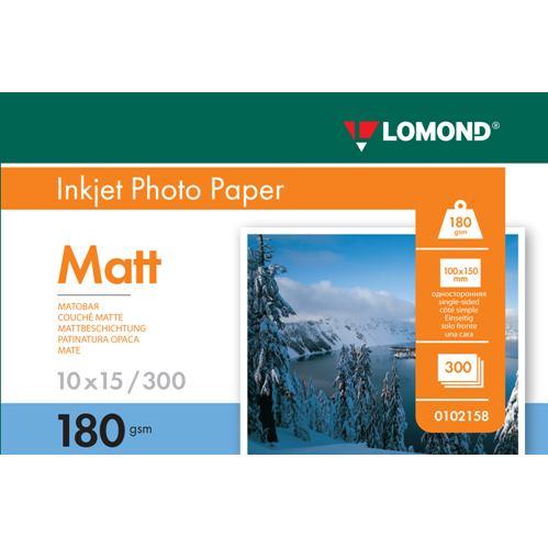 LOMOND Fotopapier mat 180g 10x15, 300 hárkov