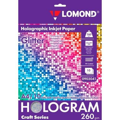 LOM Fine Art Techno Glitter 260g/m2 10sh A4