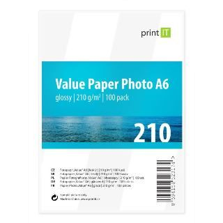 PRINT IT Value Paper Photo A6 210 g/m2 Glossy 100p