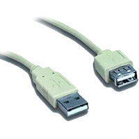 KABEL USB 2.0 predlžovací A-A  0.75m