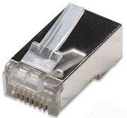 Konektor RJ45 STP, 8p8c, lanko, neskl., Cat5e, 15µm Au, 1 ks